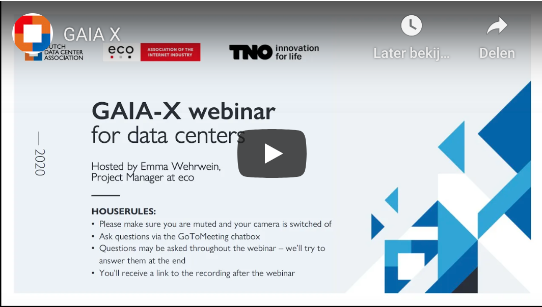 GAIA-X webinar for data centers